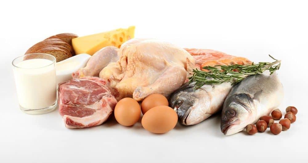 нежирное мясо, рыба