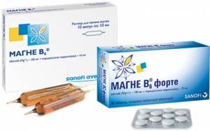 Магне B6 в ампулах и таблетках