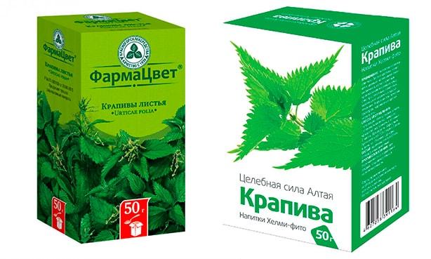 Листья крапивы, аптечный сбор