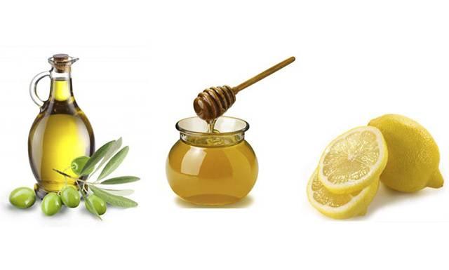 Мед лимон и оливковое масло
