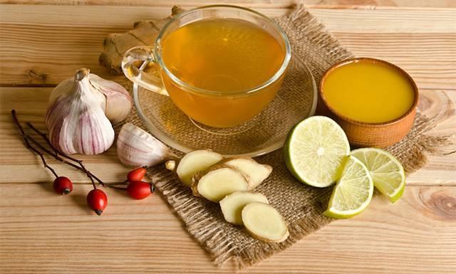 Мёд, лимон, чеснок, имбирь