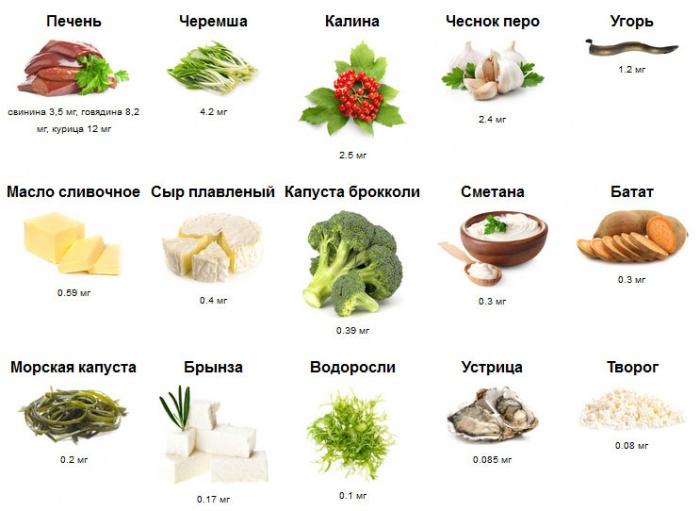 Витамин В15 в продуктах
