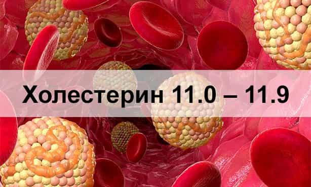 Холестерин 11.0 – 11.9