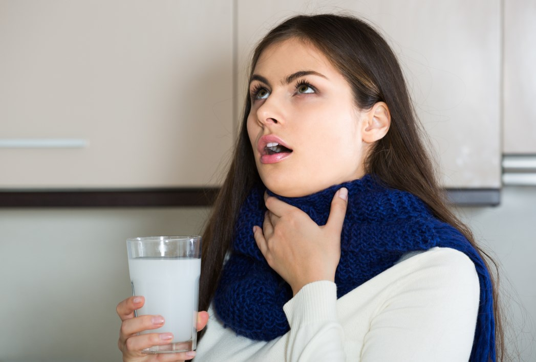 Болит горло полоскание