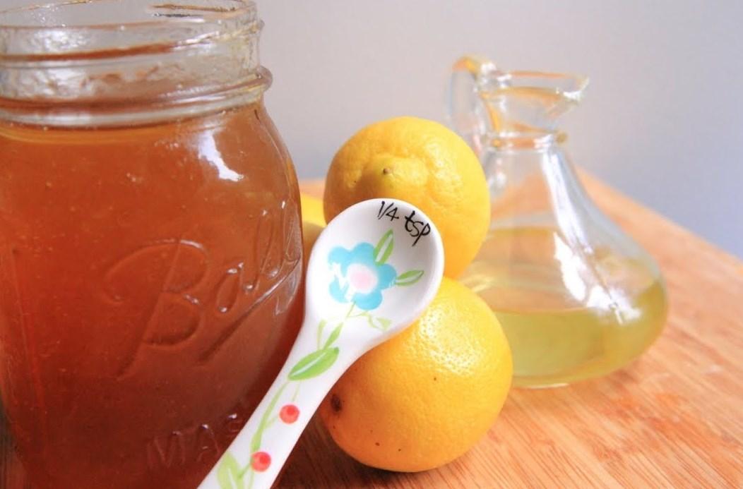 Лимон и мед от кашля