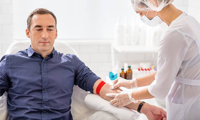 Анализ крови из вены у мужчин