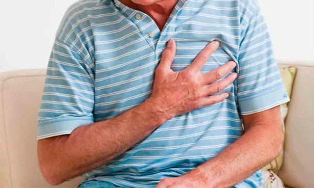 Характерны признак стенокардии: интенсивная, невыносимая боль в грудной клетке жгучего, давящего характера