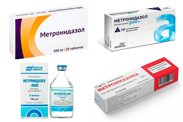 Метронидазол, виды препаратов
