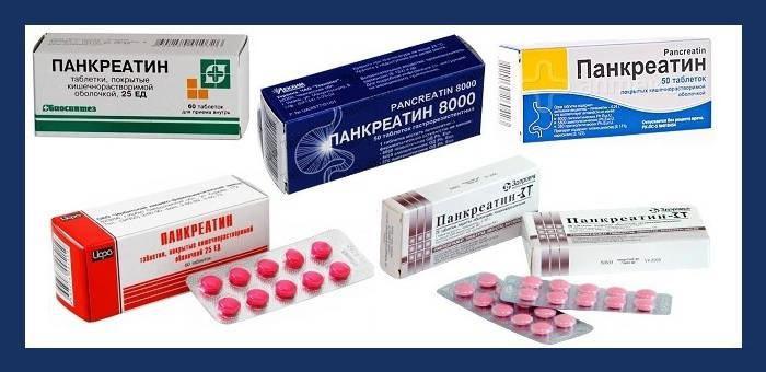 Препараты с панкератином
