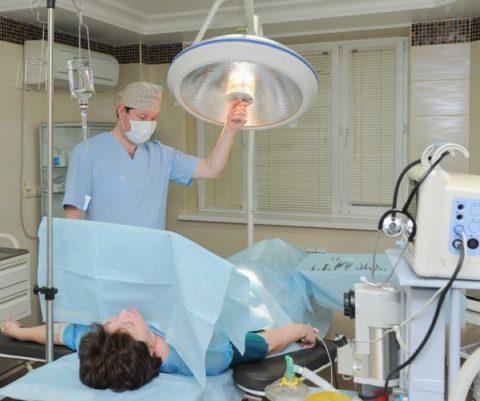 Имплантация биоинертных протезов.