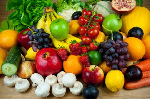 Кушайте как можно больше овощей и фруктов