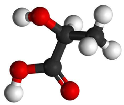 Молекула молочной кислоты
