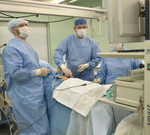 Лапароскопия кистозных образований в почке