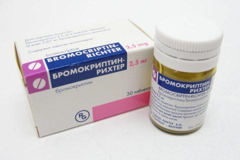 Мамомит или его аналог, Бромокрептин
