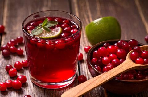 Морсы из ягод брусники и клюквы оказывают противовоспалительное действие