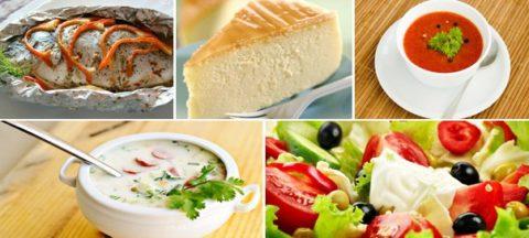 Разрешенные продукты диеты №7