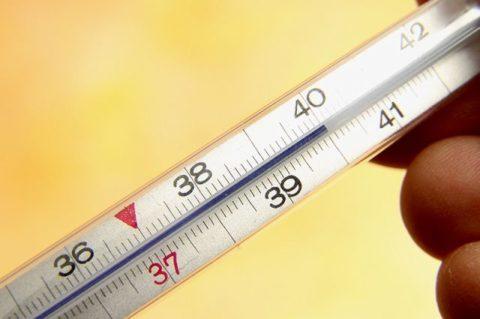 Высокая температура говорит о наличии воспалительного процесса.